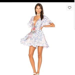 MINKPINK tropical punch flutter dress